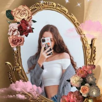 mirror selfie pic edited by BeautyPlus app
